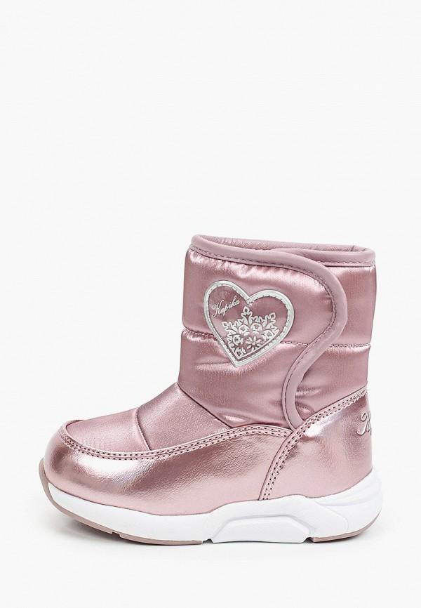 дутики kapika для девочки, розовые