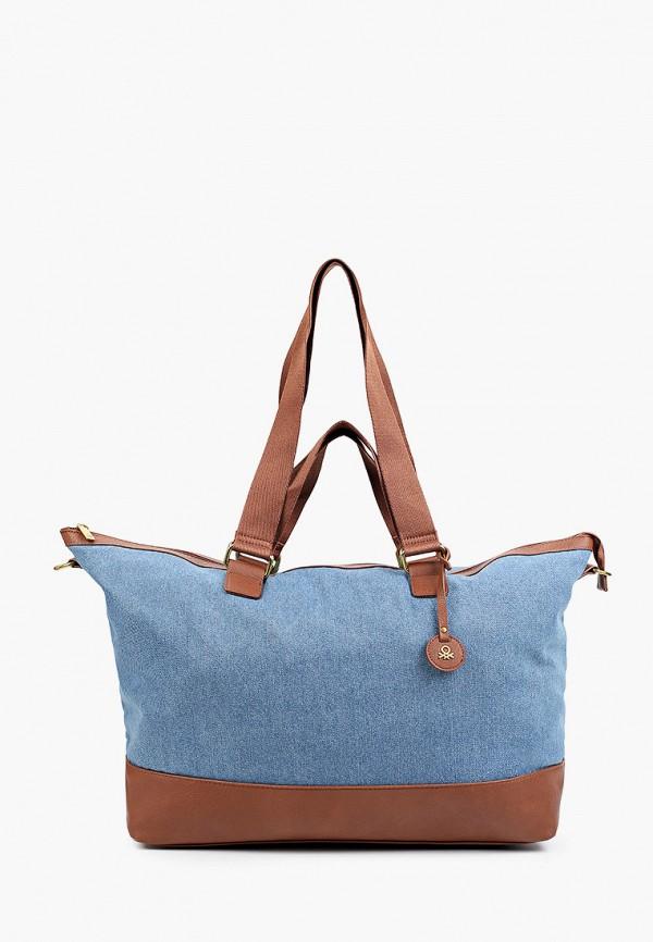 женская дорожные сумка united colors of benetton, синяя