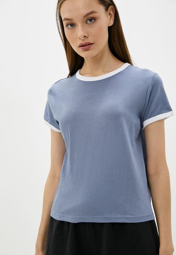 женская футболка brave soul, голубая