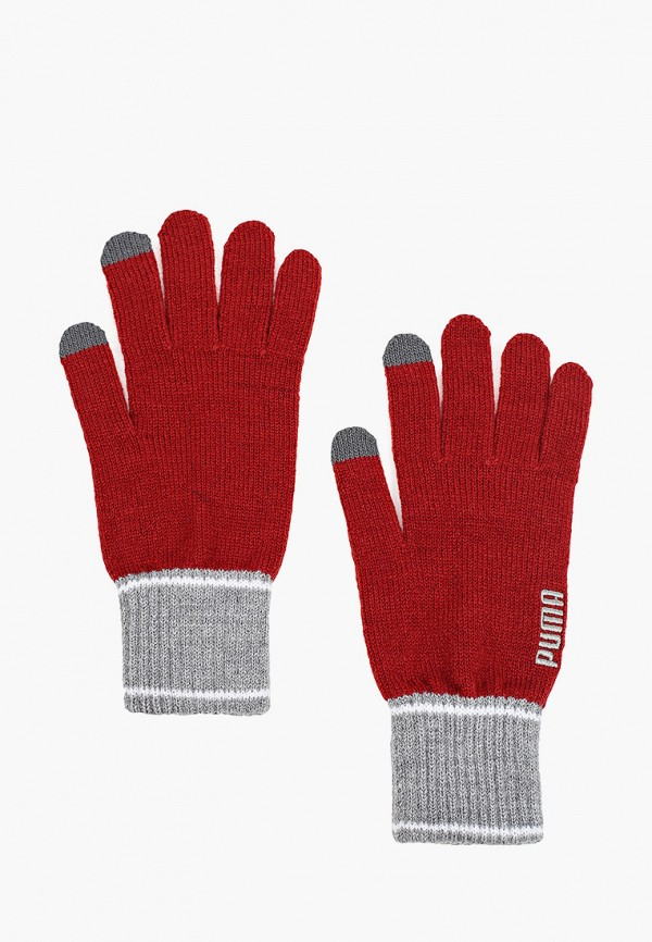 Перчатки PUMA красного цвета