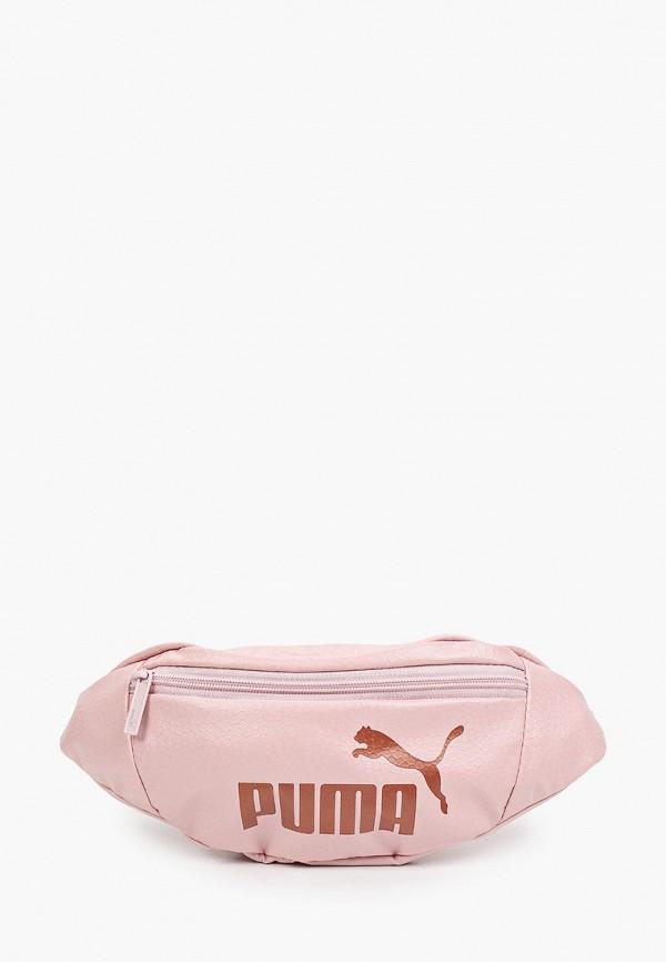 женская поясные сумка puma, розовая