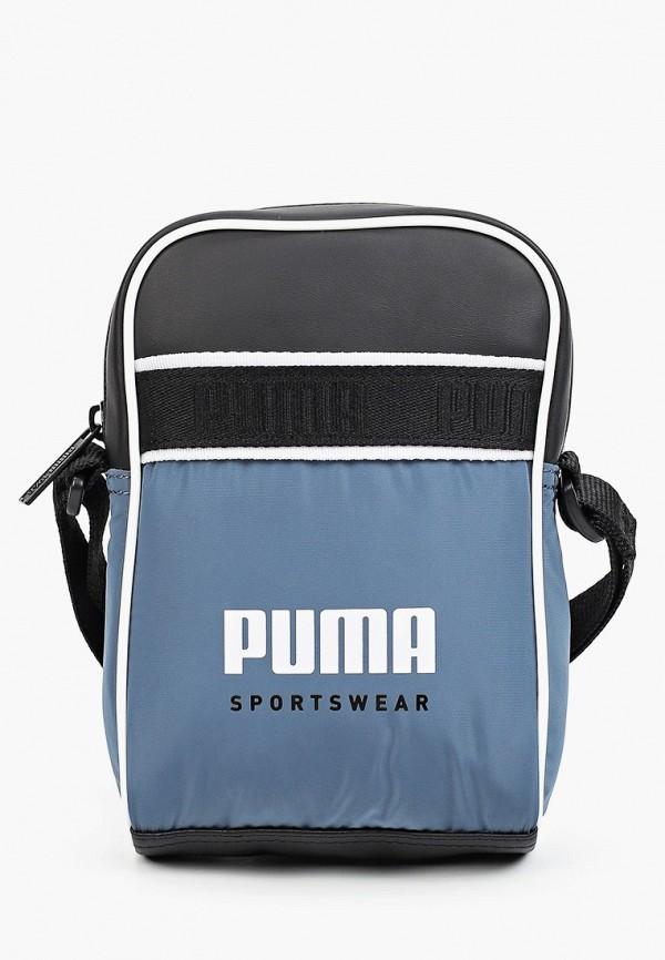 женская сумка через плечо puma, бирюзовая