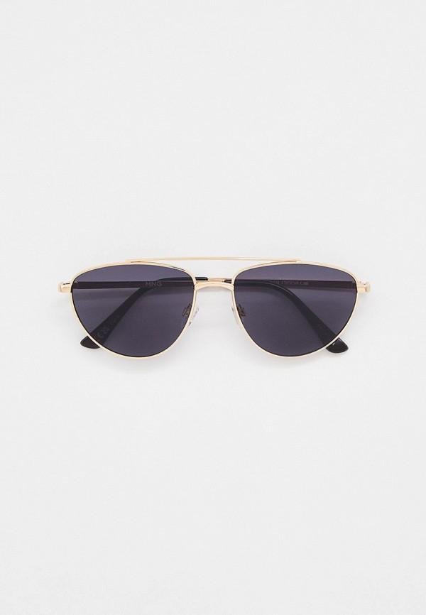 женские солнцезащитные очки mango, золотые