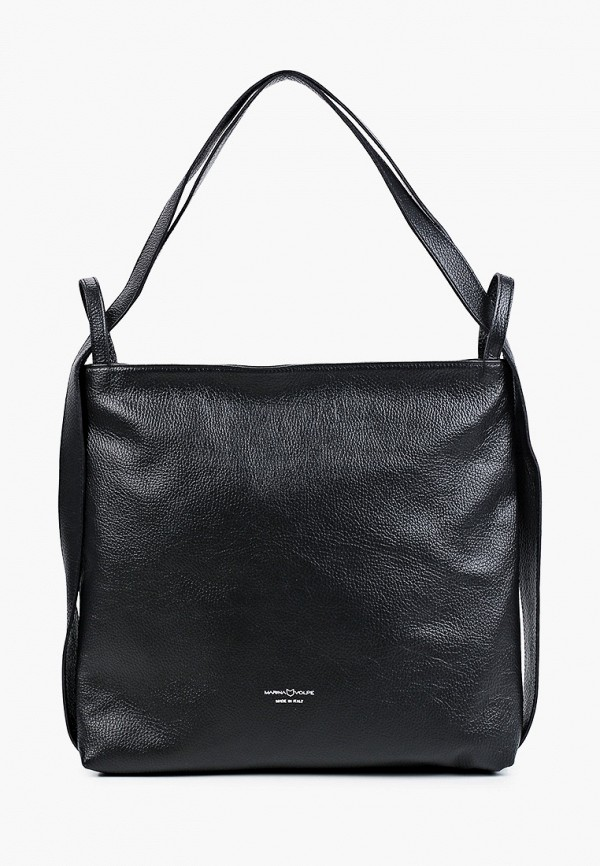 женская сумка-шоперы marina volpe, черная