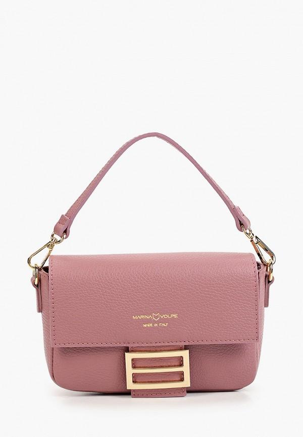 женская сумка с ручками marina volpe, розовая