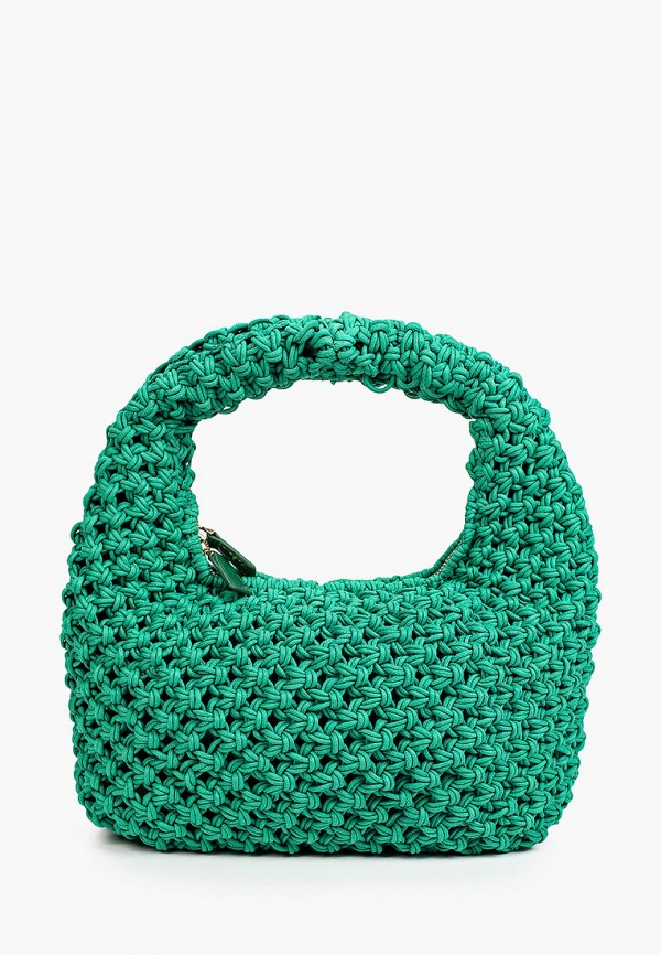 женская сумка с ручками mango, зеленая