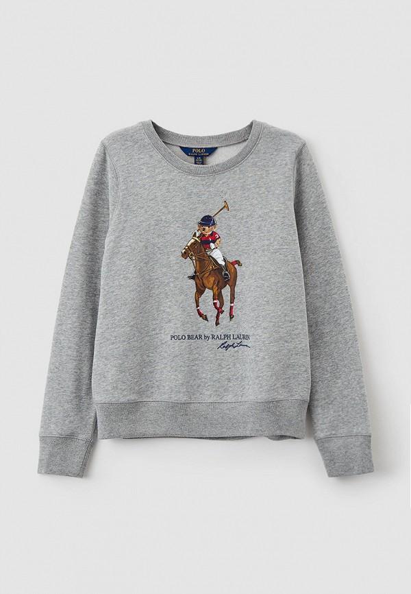 свитшот polo ralph lauren для девочки, серый