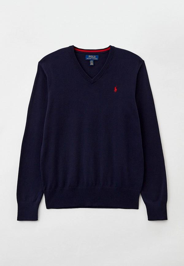 пуловер polo ralph lauren для мальчика, синий