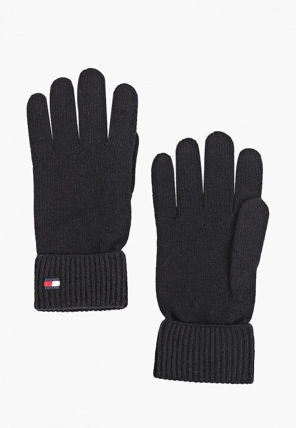 Перчатки Tommy Hilfiger черного цвета