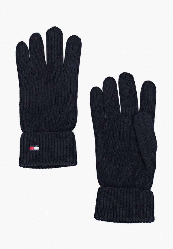 женские текстильные перчатки tommy hilfiger, синие