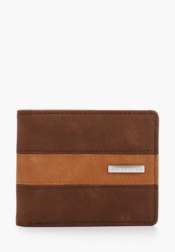 мужской кошелёк quiksilver, коричневый