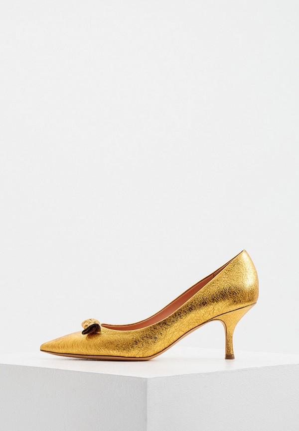 женские туфли-лодочки rochas, золотые