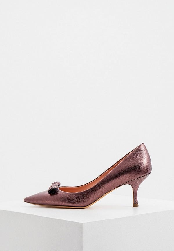 женские туфли-лодочки rochas, фиолетовые