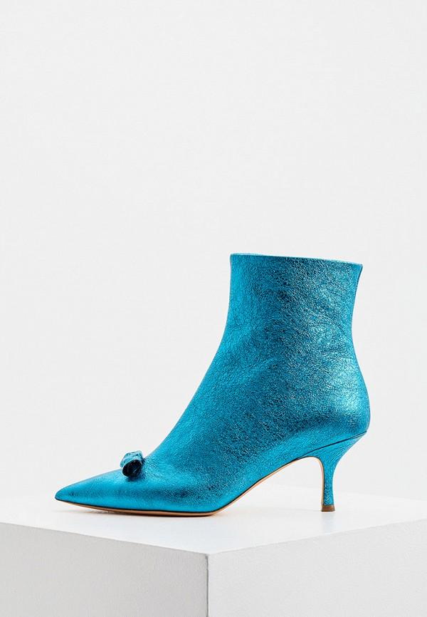 женские высокие ботильоны rochas, голубые