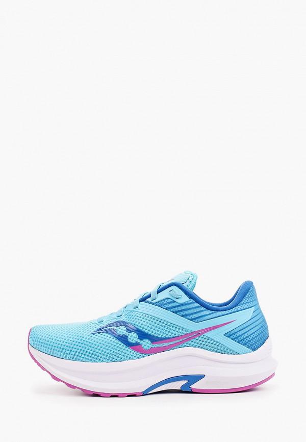 женские низкие кроссовки saucony, голубые