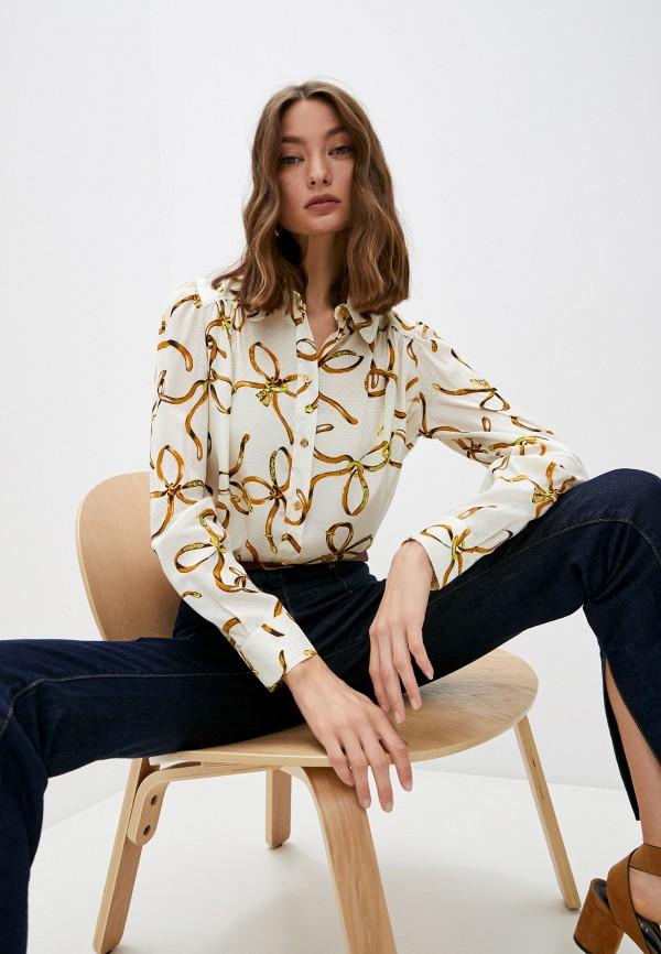 женская блузка boutique moschino, бежевая
