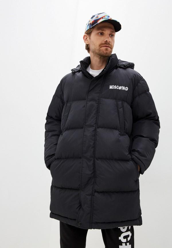 мужская куртка moschino couture, черная