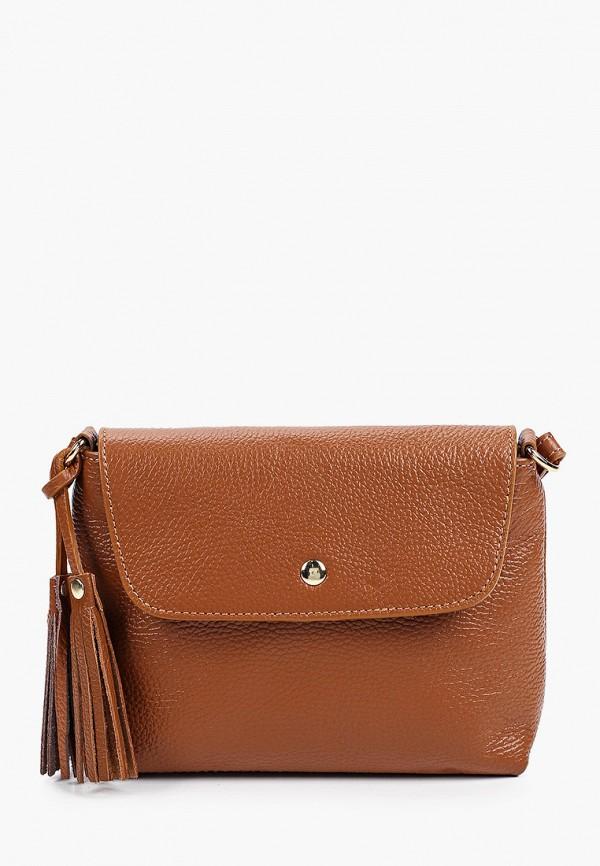женская сумка через плечо giorgio costa, коричневая