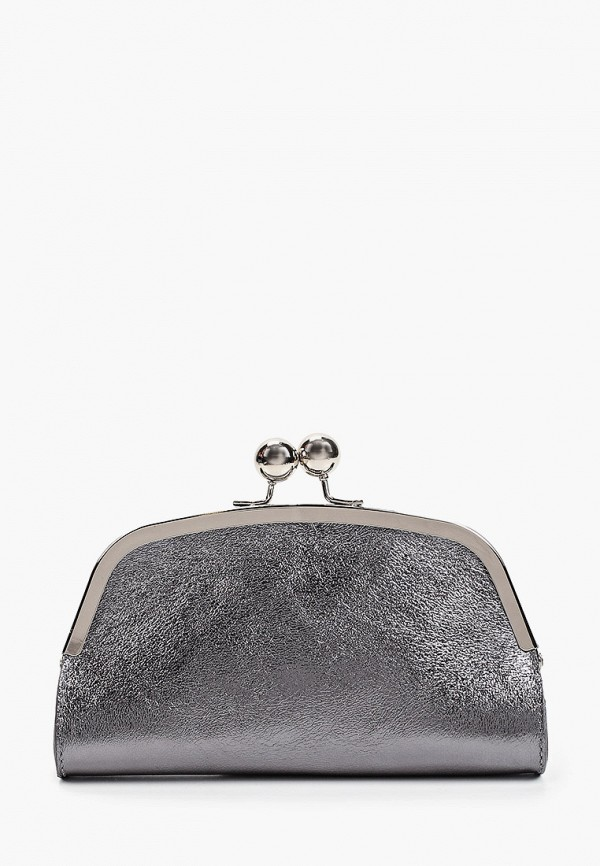 женский клатч giorgio costa, серебряный