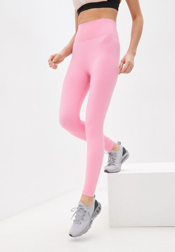женские спортивные леггинсы guess, розовые