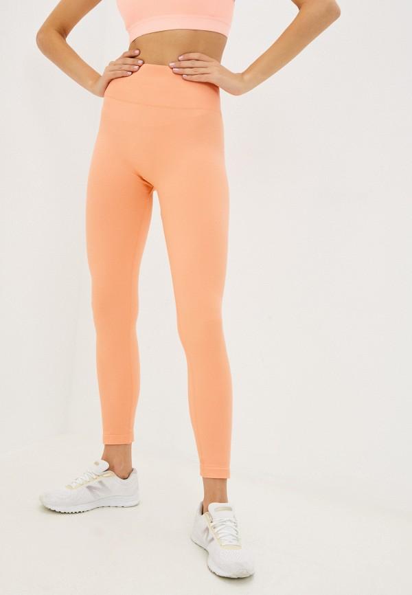 женские спортивные леггинсы guess, оранжевые