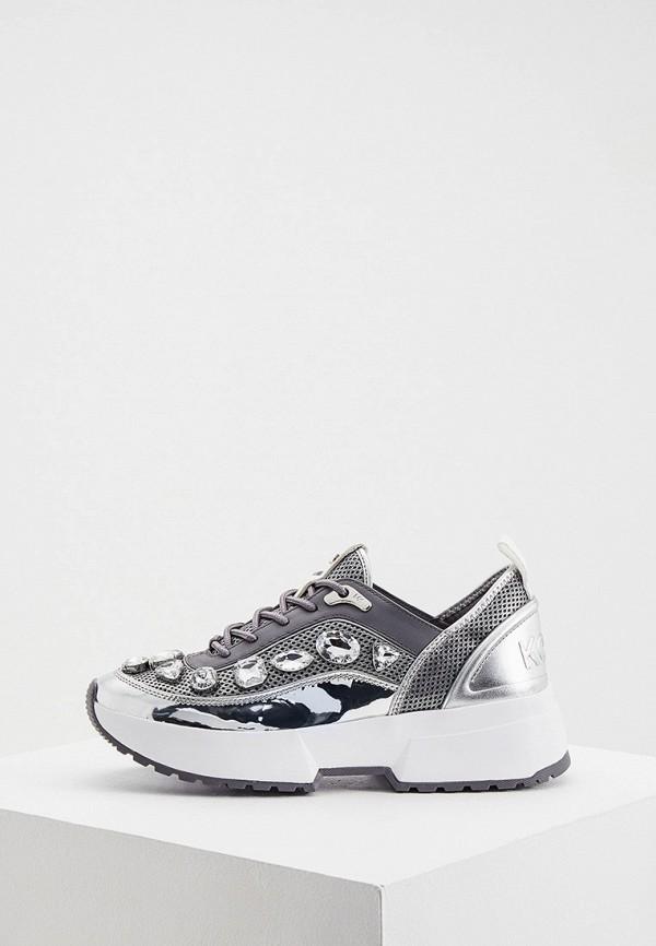 женские низкие кроссовки michael kors, серебряные