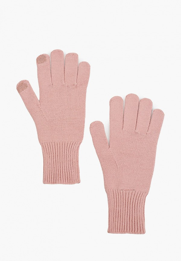 женские перчатки pieces, розовые