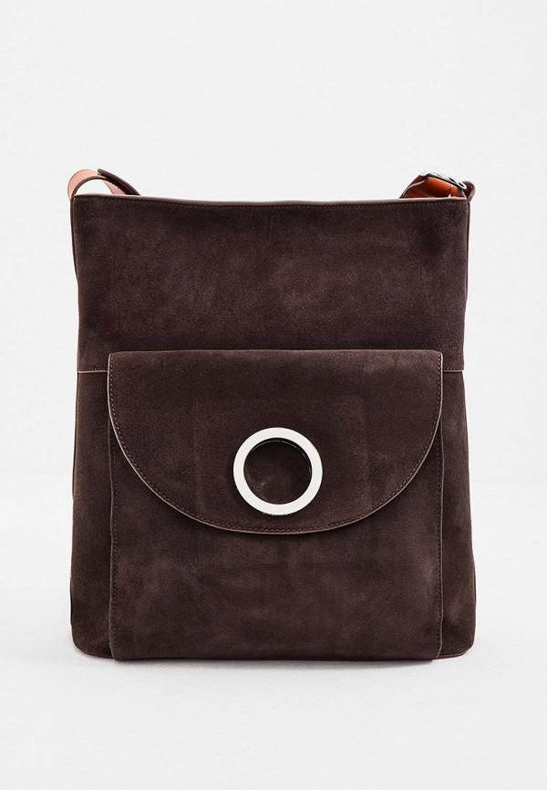 женская сумка через плечо max&co, коричневая