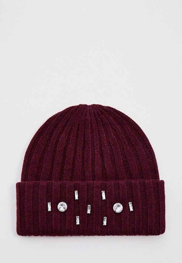 женская шапка max&co, бордовая