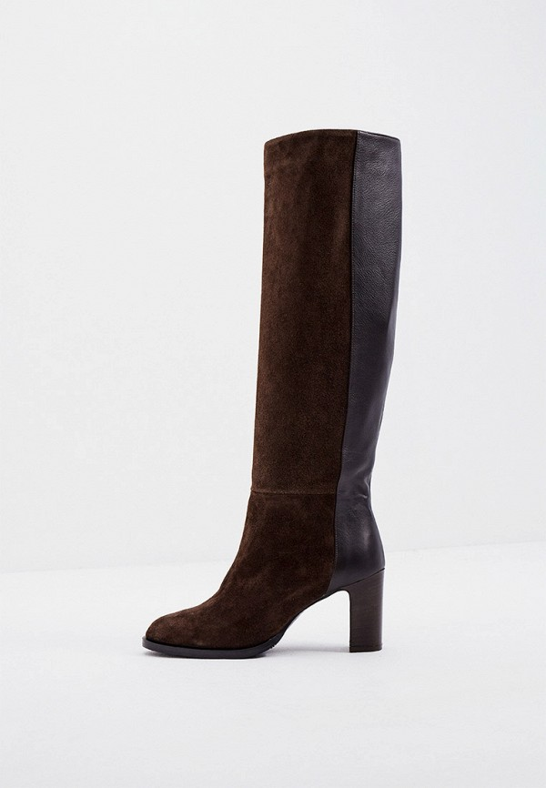 женские сапоги max&co, коричневые