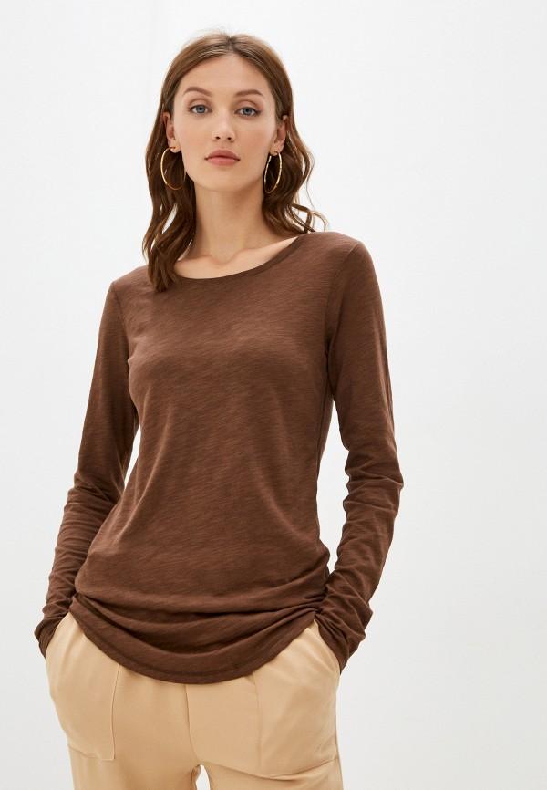 женский лонгслив sisley, коричневый