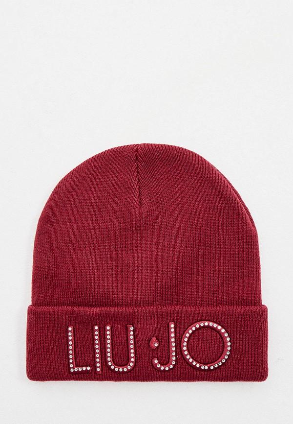 женская шапка liu jo, бордовая