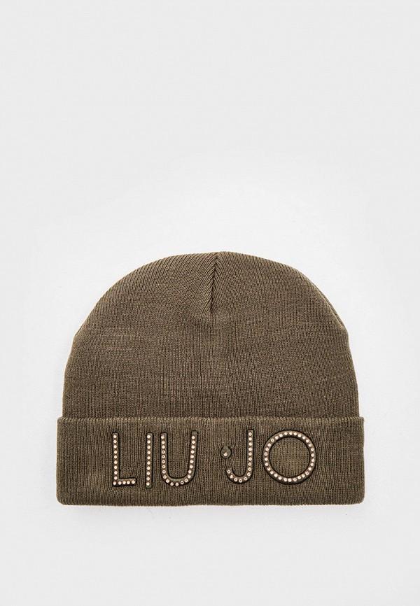 женская шапка liu jo, хаки