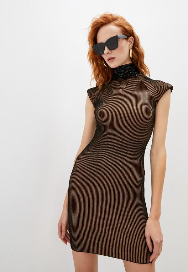 женское платье-свитеры liu jo, коричневое