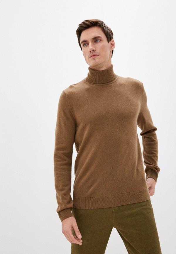 мужская водолазка united colors of benetton, коричневая