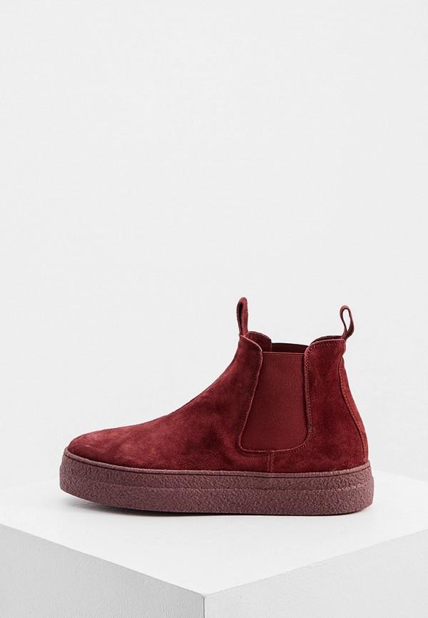 женские ботинки-челси principe di bologna, бордовые