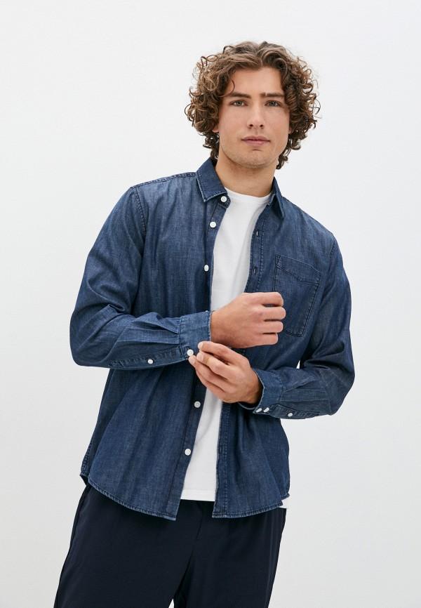 мужская джинсовые рубашка s.oliver, синяя