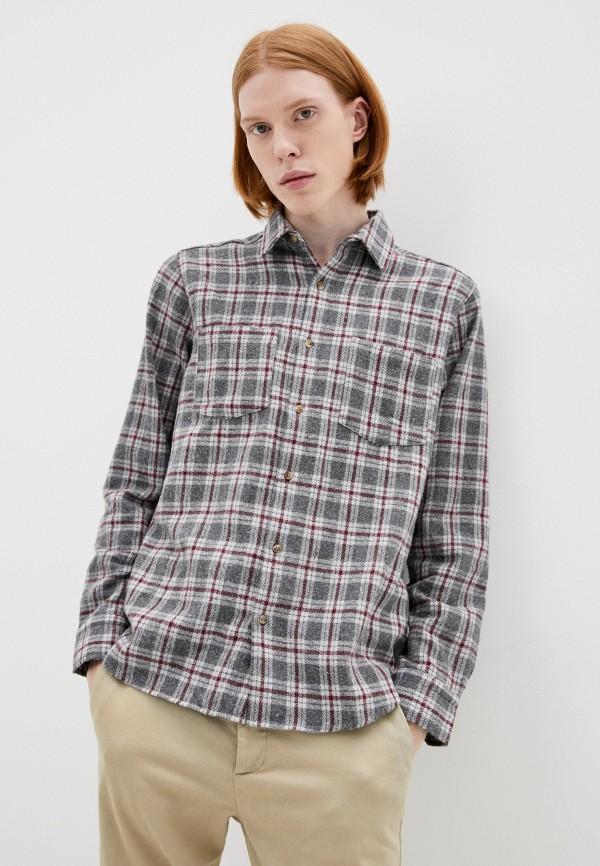 мужская рубашка с длинным рукавом trendyol, серая