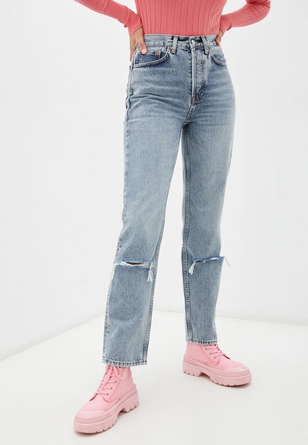 женские джинсы бойфренд topshop, голубые