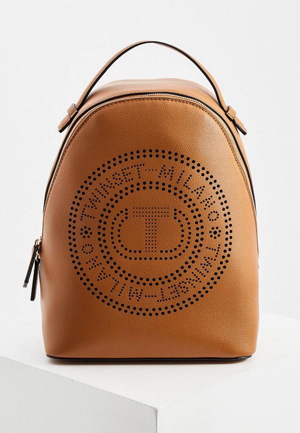 женский рюкзак twinset milano, коричневый
