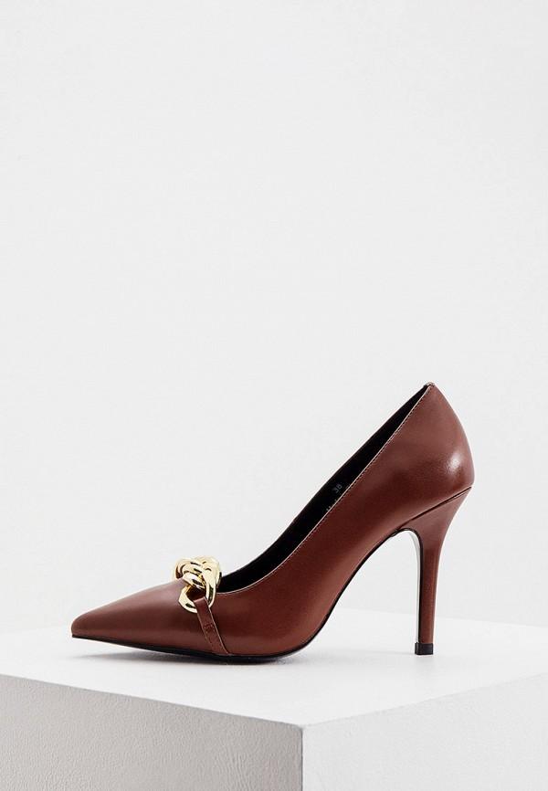 женские туфли-лодочки twinset milano, коричневые