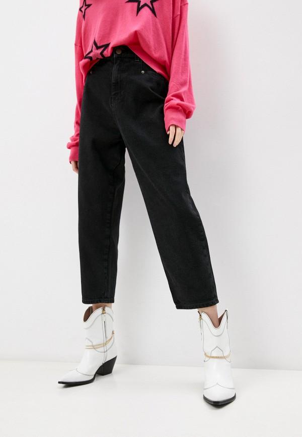 женские джинсы бойфренд twinset milano, черные