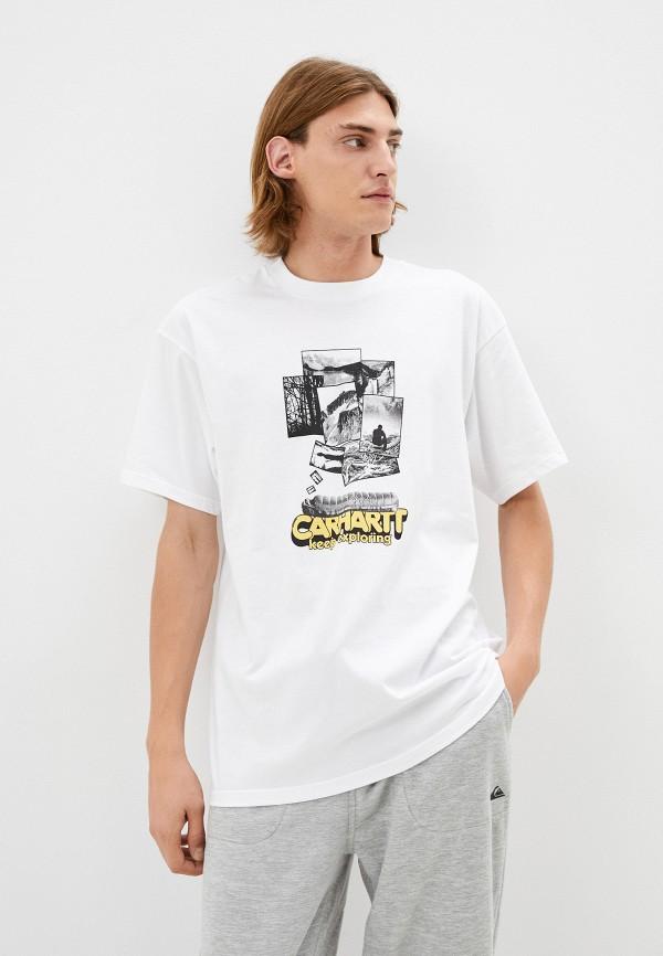 мужская футболка с коротким рукавом carhartt wip, белая