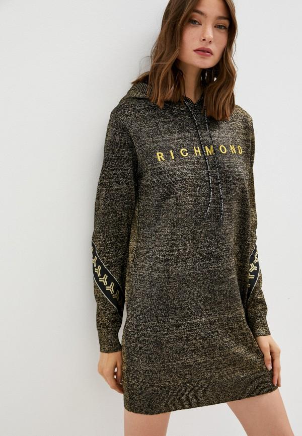 женское платье-толстовки richmond sport, золотое