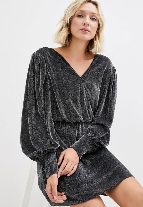 женское платье с запахом silvian heach, серебряное