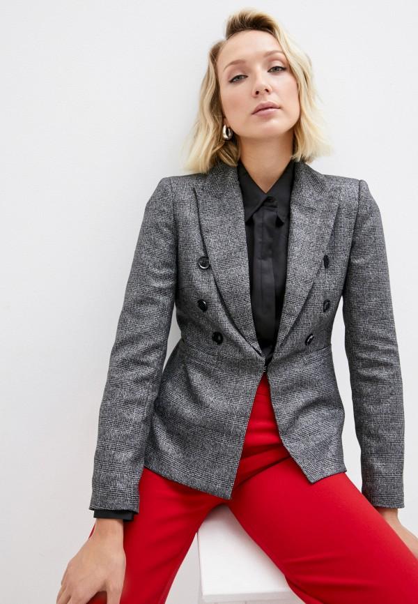 женский пиджак silvian heach, серый