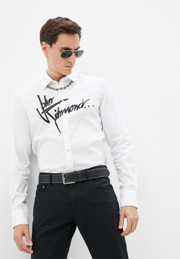 мужская рубашка с длинным рукавом john richmond, белая