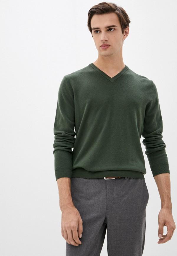 мужской пуловер united colors of benetton, хаки