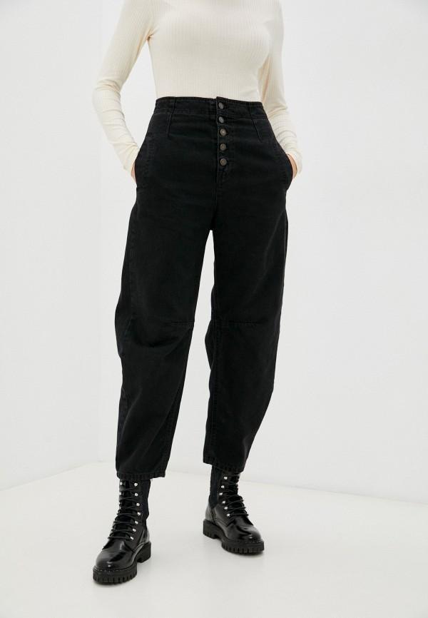 женские джинсы бойфренд united colors of benetton, черные