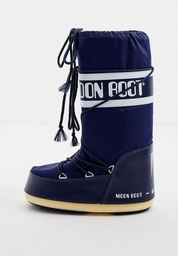женские луноходы moon boot, синие